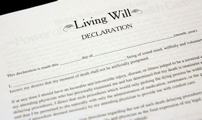 writing a living will template notarizing a signature on a living will without a notarial