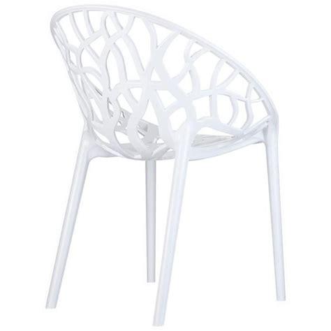 Chaise En Polycarbonate Pas Cher by Chaise Moderne Geo Blanche En Polycarbonate Achat