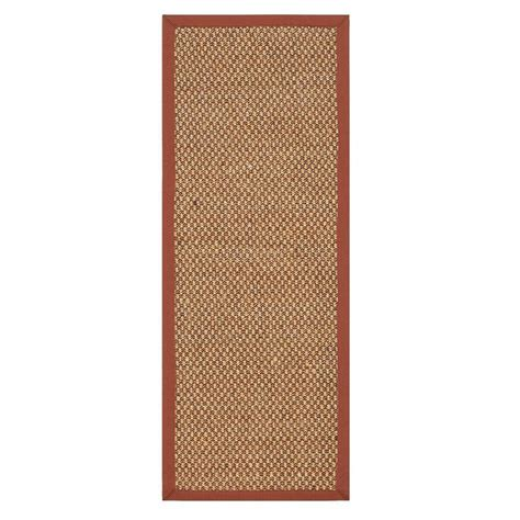 rug runners 2 x 14 home decorators collection adirondack sisal rust 2 ft 6 in x 14 ft rug runner 4066995180