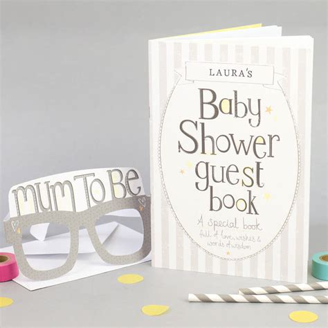 Baby Shower Guest by Baby Shower Guest Book By Tandem Green