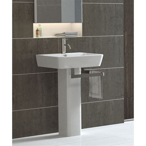 modern pedestal sinks for small bathrooms modern pedestal with towel bar homesfeed