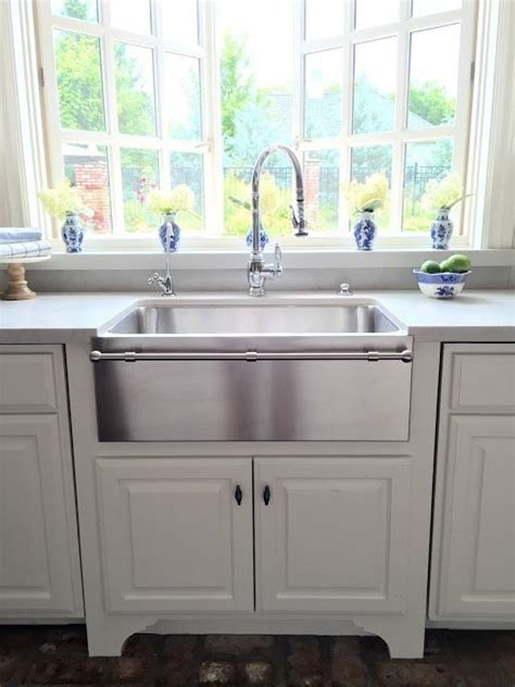 stainless steel apron with towel bar eleven gables kitchen as featured in design oklahoma