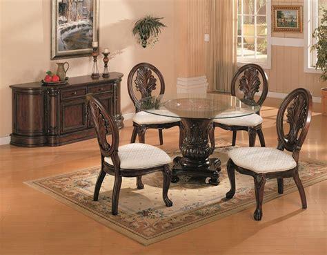 round glass dining room table sets dallas designer furniture tabitha formal dining room set