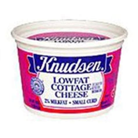 knudsen cottage cheese lowfat calories nutrition