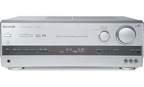 panasonic sa he75 silver home theater receiver with