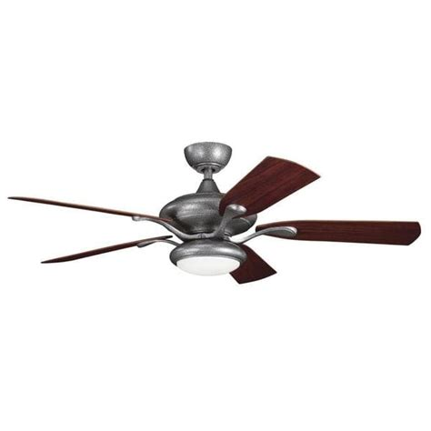 contemporary transitional weathered steel ceiling fan and