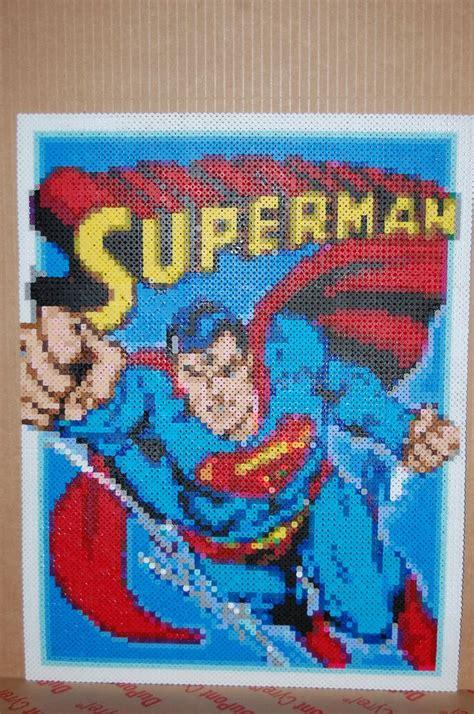 perler superman superman perler bead made by me amanda wasend my