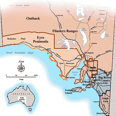 Section Maps South Australia by South Australia Map Adelaide On Line