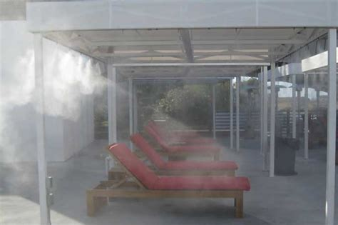 Commercial Patio Misters by Misting Cooling Systems For Palm Springs And Palm Desert