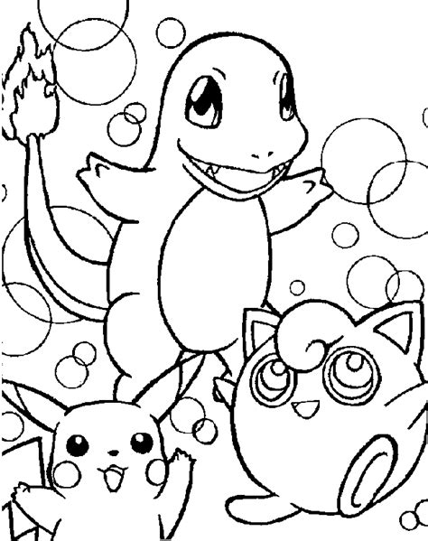 Pokemon Clipart Cliparts Co Coloring Pages Of Black And White