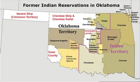 map of american tribes in oklahoma rock oklahoma