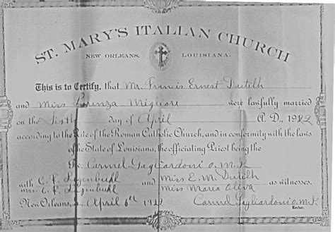 Orleans Parish Marriage Records Marriage Certificates Orleans Parish Archives Lagenweb Usgenweb