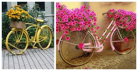 fun  whimsical bicycle planters   garden  yard