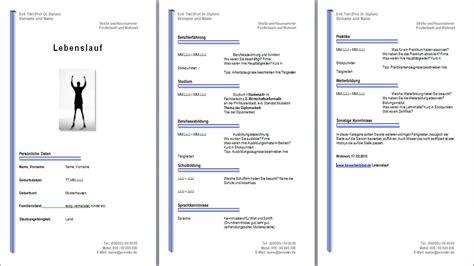 Lebenslauf Vorlage Schweiz Word Gratis Lebenslauf Vorlage Muster Beispiel Downloaden Kostenlos