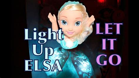 singing frozen elsa doll toy review    snow glow light  youtube