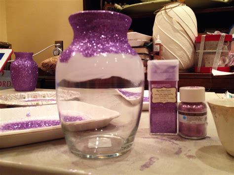 Mod Podge Glitter Vase by Posh Purpose Cheap Diy Vases With Big Impact