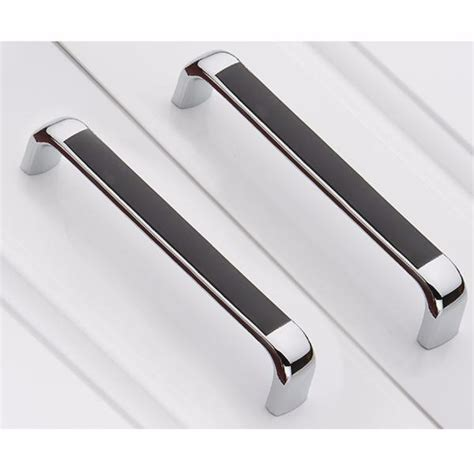 chrome handles for kitchen cabinets 2 x modern pull handle kitchen wardrobe drawer cupboard