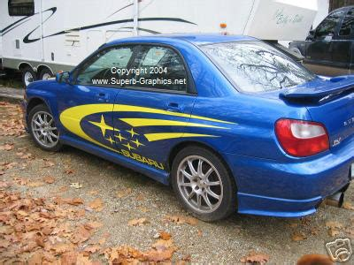 subaru side decal subaru rally side graphics 21 quot x 100