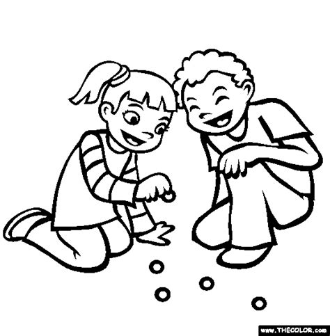 playing together online coloring page