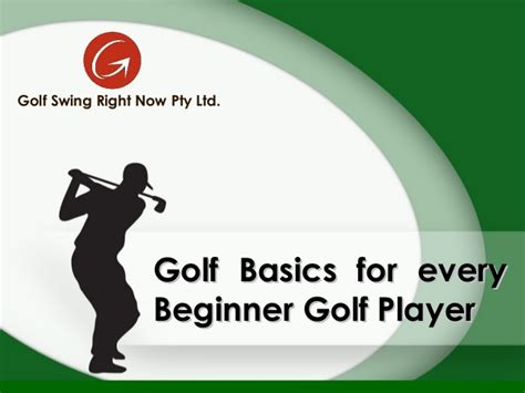 golf swing basics for beginners golf basic for every beginner golf player