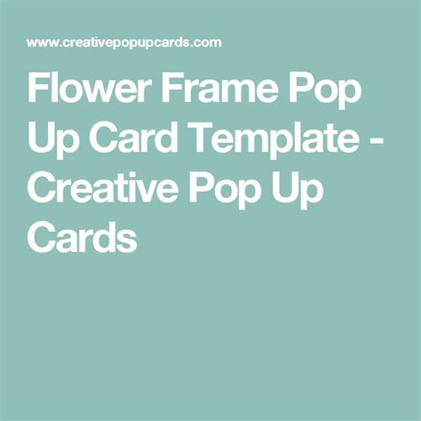 Frame Pop Up Card Template by 15 Must See Pop Up Card Templates Pins Pop Up Pop