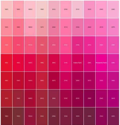 colors that match pink logo pantone color matching red and pink paintings and
