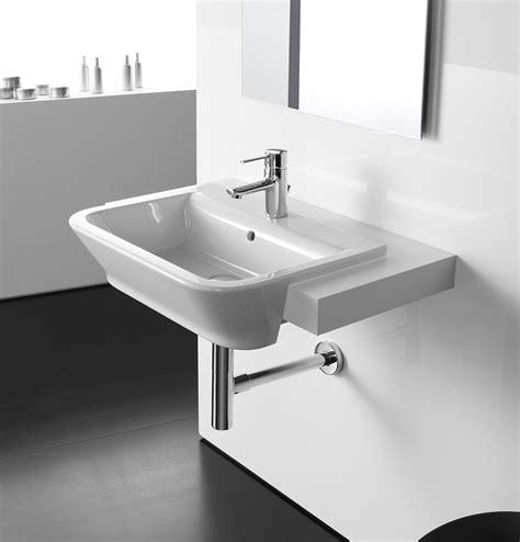 Roca the gap white semi recessed basin 560mm wide 32747s000