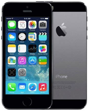 apple iphone 5s with facetime 16gb, 4g lte, space gray