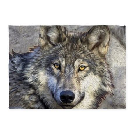 wolf area rug grey wolf 5 x7 area rug by listing store 1074121
