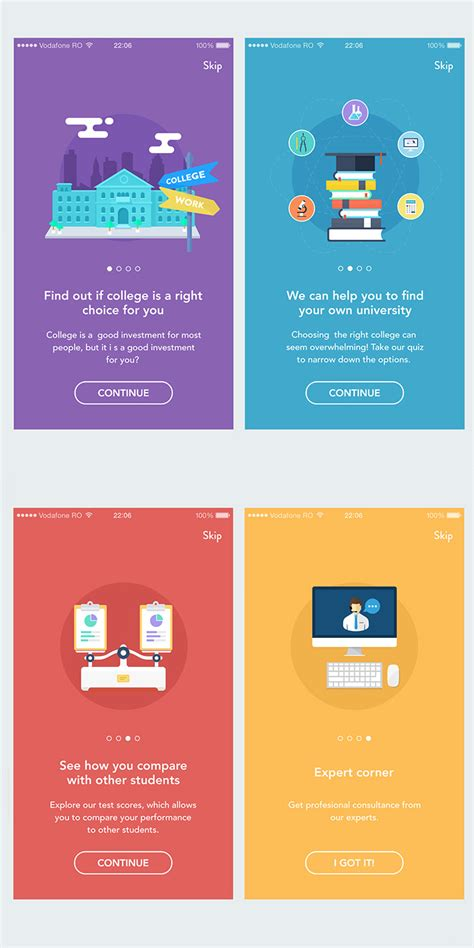 design quiz app 40 mobile apps onboarding designs for your inspiration