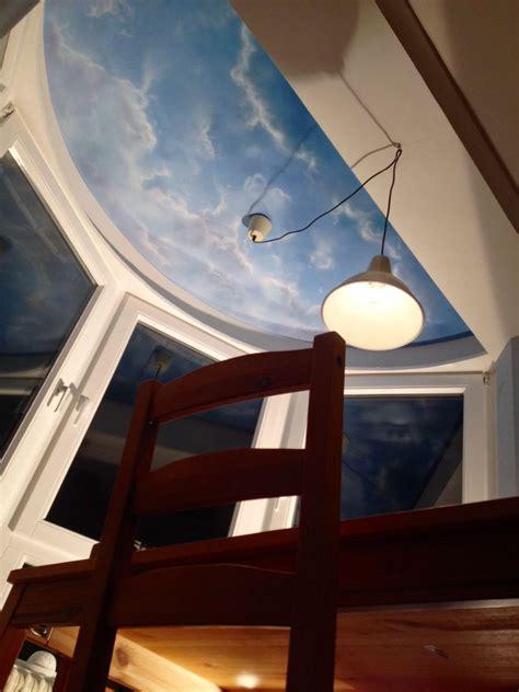 kinderzimmer wandgestaltung himmel deckenmalerei als himmel mit wolken florian geyer