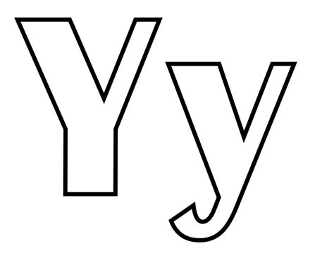 File:Classic alphabet y at coloring-pages-for-kids-boys ... Y Coloring Pages