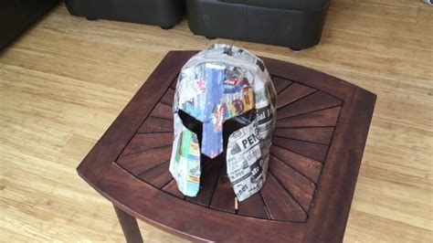How To Make A Spartan Helmet Out Of Paper - how to make a cardboard spartan helmet