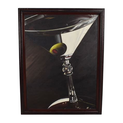 glass with olive 84 off lithograph of glass with olive decor