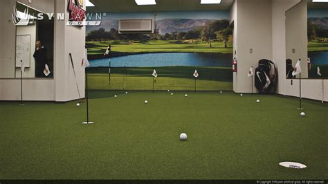 practice golf swing indoors indoor golf practice rooms synlawn golf