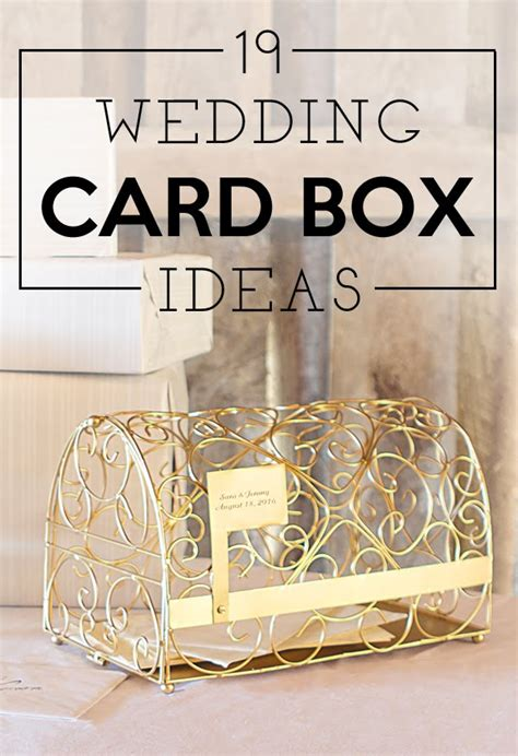 19 wedding gift card box ideas