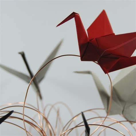 origami cranes centerpiece tutorial rossanarama handmade