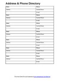 Address Directory Template by Free Printable Address Book Templates