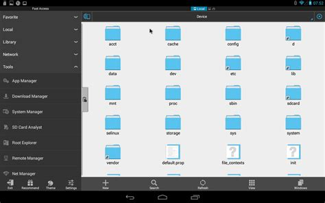 android file explorer es file explorer file manager android x86