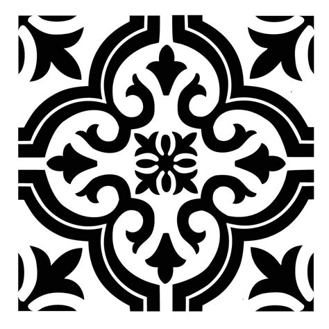 Pattern Tile Stencils | reusable laser cut small to large floor or wall tile stencil