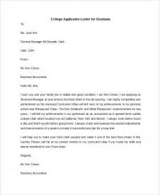 College Application Cover Letter Exles by Sle College Application Letter 6 Documents In Pdf Word