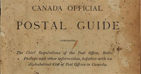 Official Mba Guide Canada by Postal History Corner Canada Official Postal Guides
