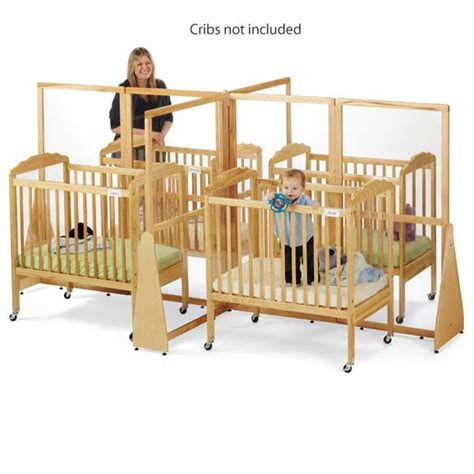 Daycare Baby Cribs Jonti Craft See Thru Crib Divider 1653jc Crib Dividers Worthington Direct