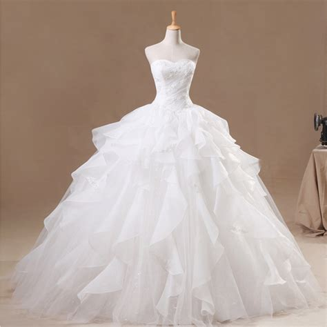 madivas fashion wedding gown real pictures white ball gown organza wedding dress 2017