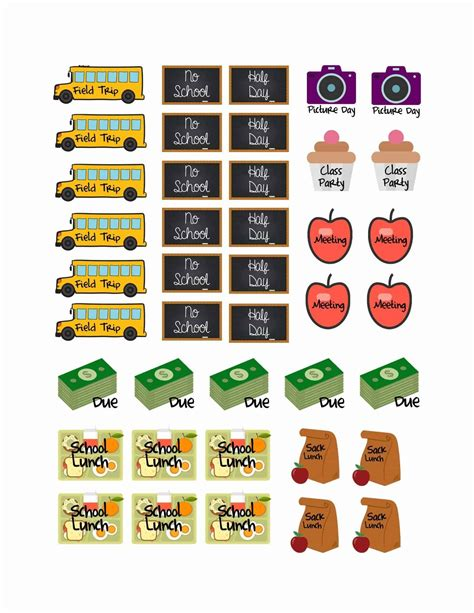 Aufkleber Schule by School Planner Stickers Free Printable Sweet T Makes Three