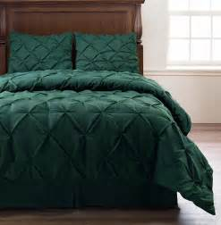 emerson hunter green 4pc pinched pleat comforter set