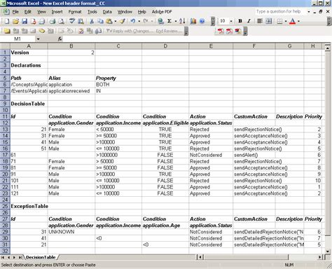 format excel as table microsoft excel file format for decision tables