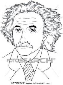 biography sketch of albert einstein clipart of albert einstein k17796562 search clip art