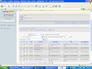 membuat database dengan mysql query browser membuat database dengan xampp adituek net