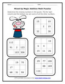 maths addition worksheets for grade 2 mixed up magic